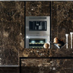 Contemporary kitchen / marble / island